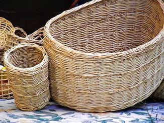 Half-Round Basket with Side Pockets