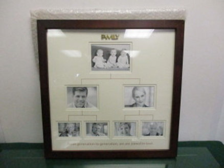 "carlton cards family photo frame - brown frame - ""family, from generation to gen"