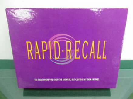Rapid Recall - adult game