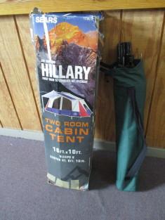 Sears Sir Edmund Hillary Two Room Cabin Tent Sleeps 8 16x10
