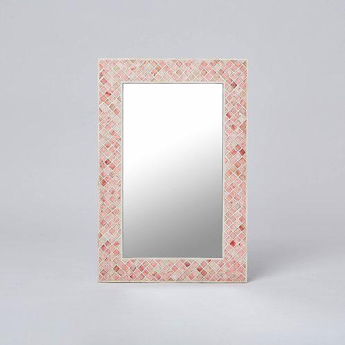 Bone Resin Inlay Wall Mirror (Red)