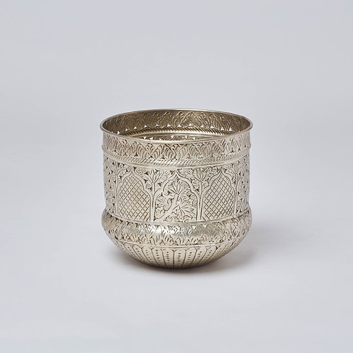 Brass Planter (Silver Antique)