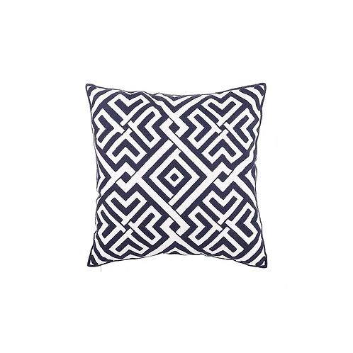 Chain Stitch Cushion (Navy Blue)