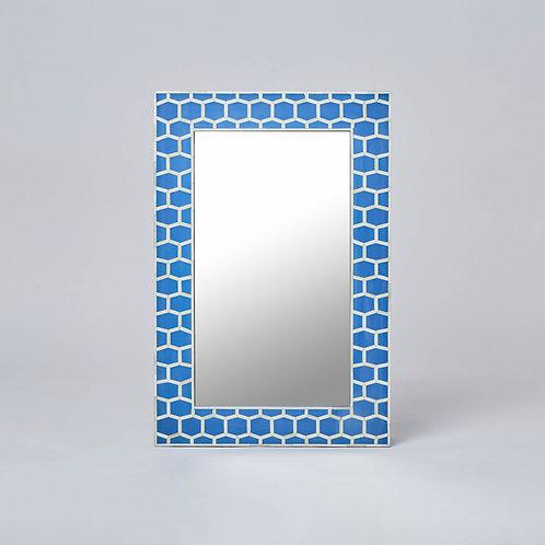 Bone Inlay Wall Mirror (Blue)