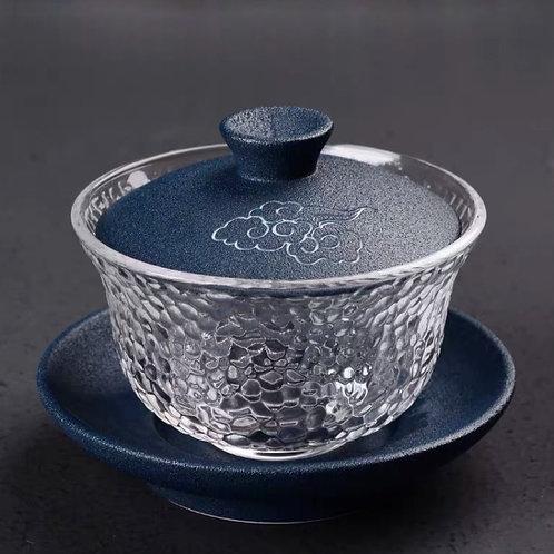Porcelain & Glass Tea Set (Blue Cloud)
