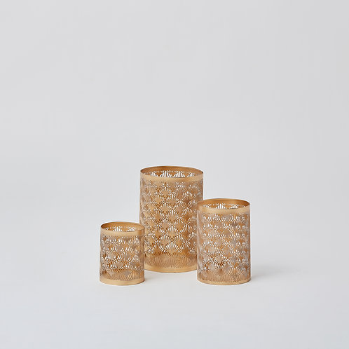Cutwork Tealight Holder (Gold & Gold)