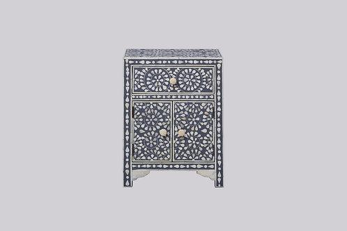 Bone Inlay Bedside Cabinet - Grey