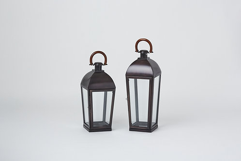 Hurricane Lantern with Wooden Handle