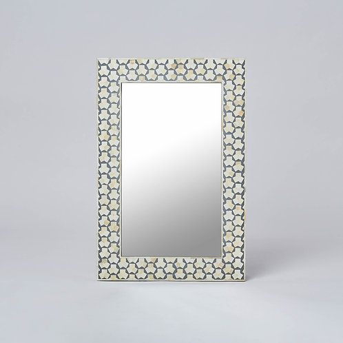 Bone Inlay Wall Mirror (Grey)