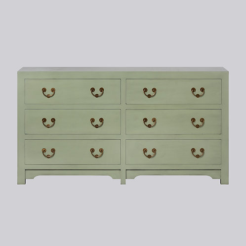 6 Drawer Sideboard - Pistachio Green