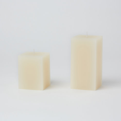 Unscented Pillar Candle (Square)