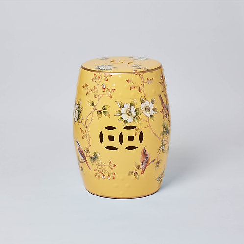 Unique and handmade furniture, Chinese influenced on a budget. Ceramic stool for outdoor use with Free Delivery. No Sale