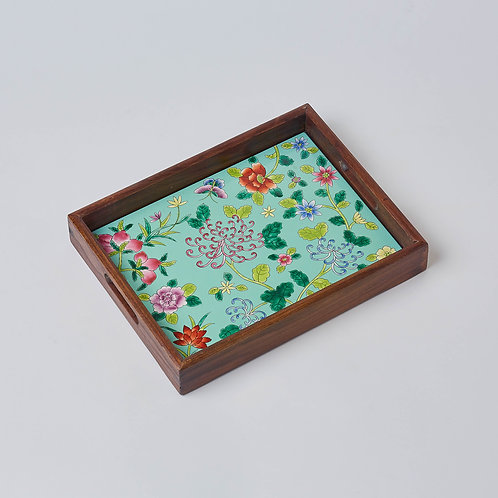 Hand-painted Porcelain Tray (Chrysanthemum)