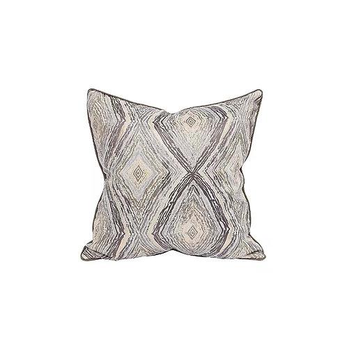 Faux Silk Cushion (Brown)