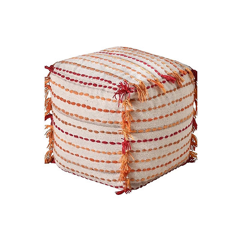 Block Pouf (Orange)