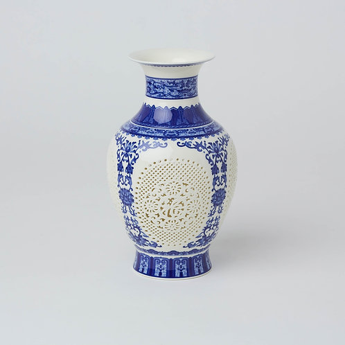 Chinese Chinoiserie Vase Blue & White at Lim's Holland Village not in Marina Square