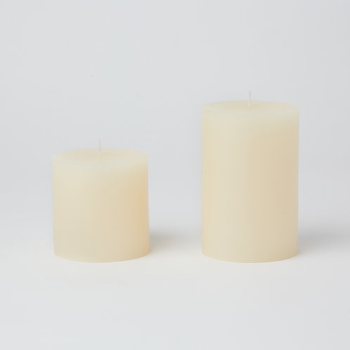 Unscented Pillar Candle (Round)