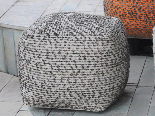Block Pouf (Linen)