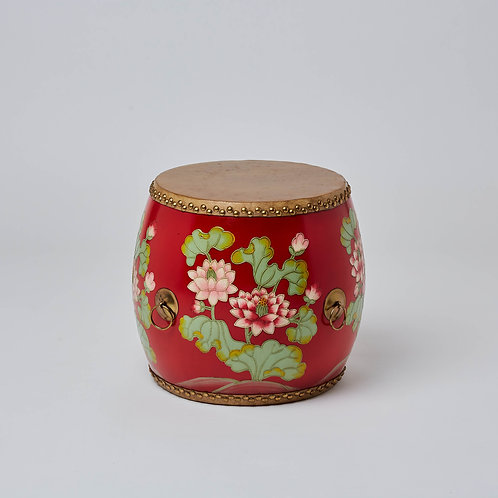 Ceramic stool hand painted colourful. No Sale Affordable Chinese furniture at Lims.