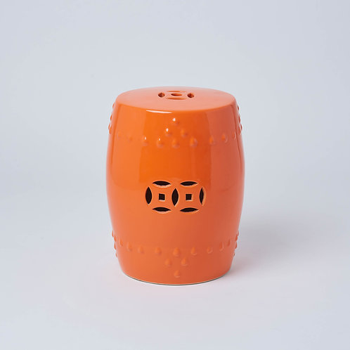 Unique and handmade furniture, Chinese influenced on a budget. Ceramic stool for outdoor use with Free Delivery. No Sale.
