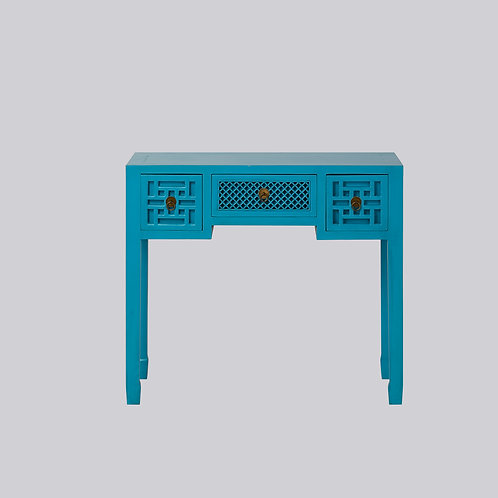 Lattice High Leg Console (Turquoise)