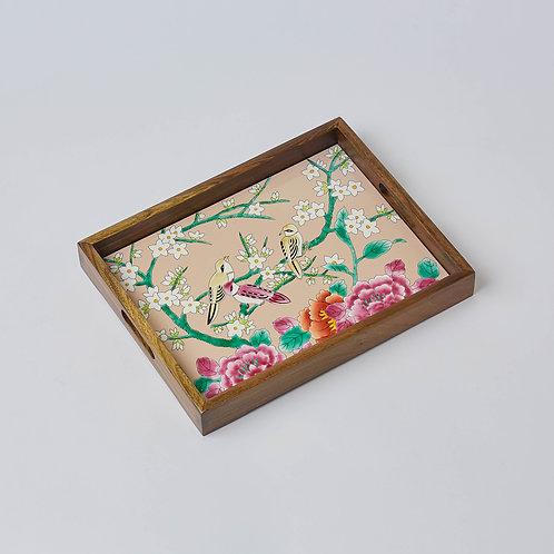 Hand-painted Porcelain Tray (Bird & Peony)