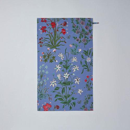 Cotton Tea Towel (Pale Blue Flowers)