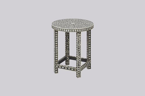 Bone Inlay Side Table - Grey