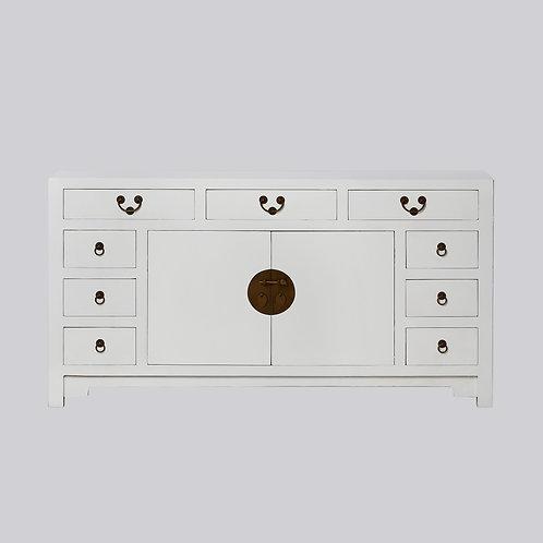 9 Drawer Cabinet (White Antique)