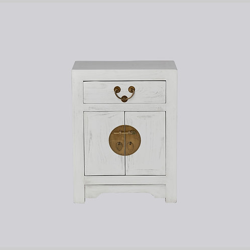 Bedside Cabinet (White Antique)