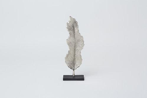 Decorative Leaf W Stand (Silver)