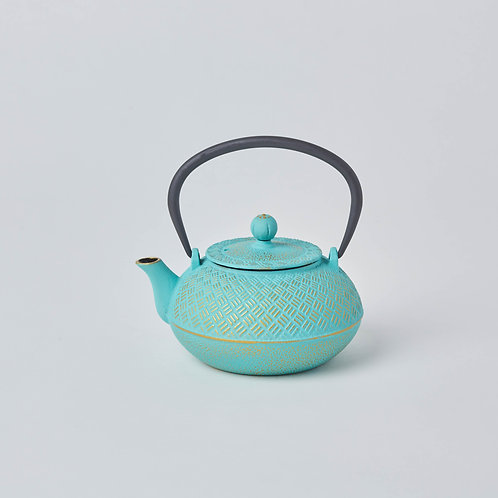 Cast Iron Teapot 0.9L (Turquoise Bamboo)
