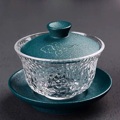 Porcelain & GlassTea Set (Teal Cloud)