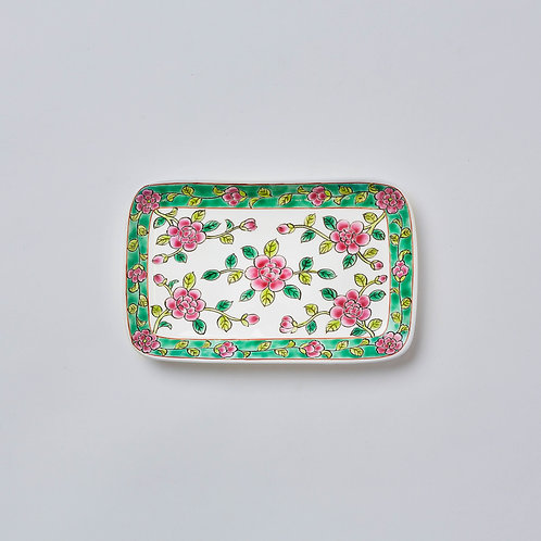 Hand-painted Porcelain Dish (Flowers)