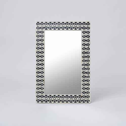 Bone Inlay Wall Mirror (Black)