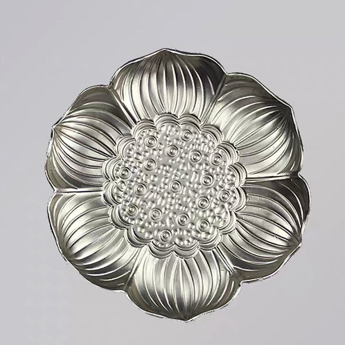 Metal Coaster (Silver Flower)