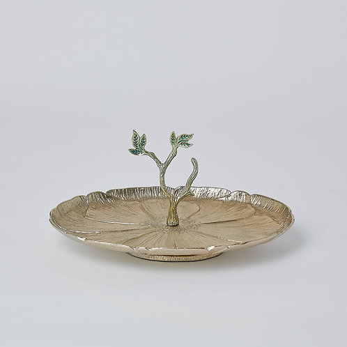 Flower Tray with Base (Gold)