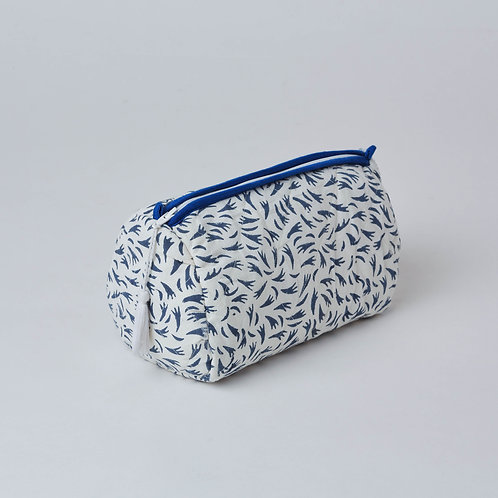 Toiletry bag, vanity bag, cosmetic bag, hand block print, office gifts available at Lim's Holland Village