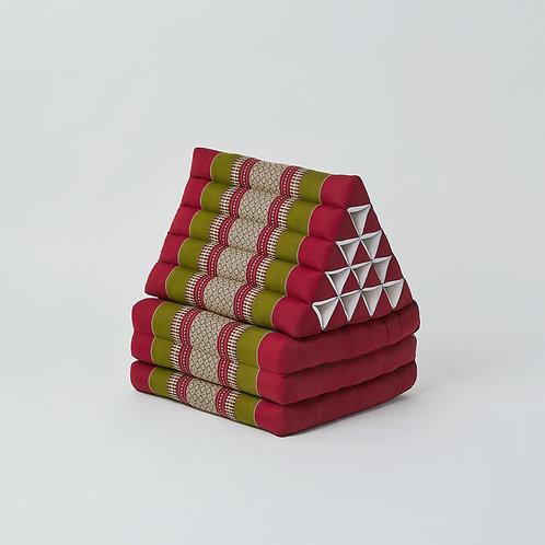 Triangle Cushion (Maroon & Green)