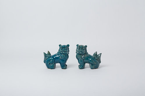 Chinese Unicorn (Blue Antique Pair)