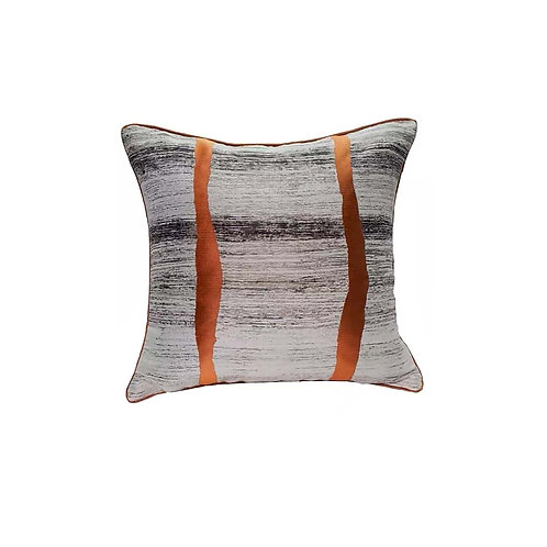 Faux Silk Cushion Cover (Orange)