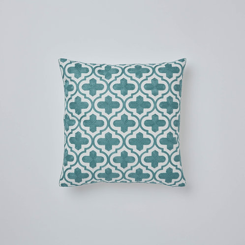 Chain Stitch Cushion Cover (GREEN)