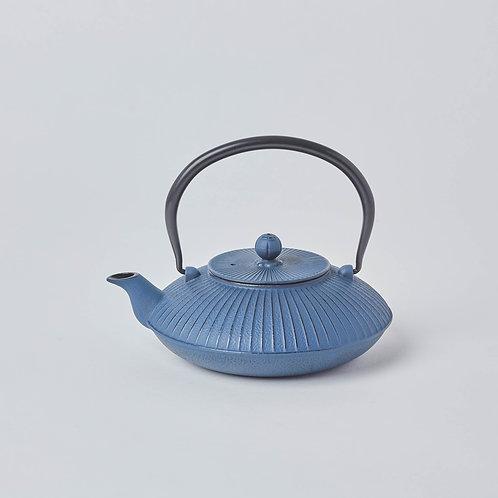 Cast Iron Teapot 1.2L (Dark Blue Fan)