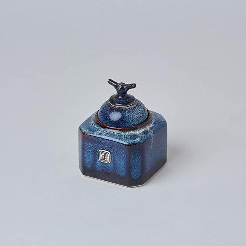 Hexagon Tea Caddy (Ocean Wave)