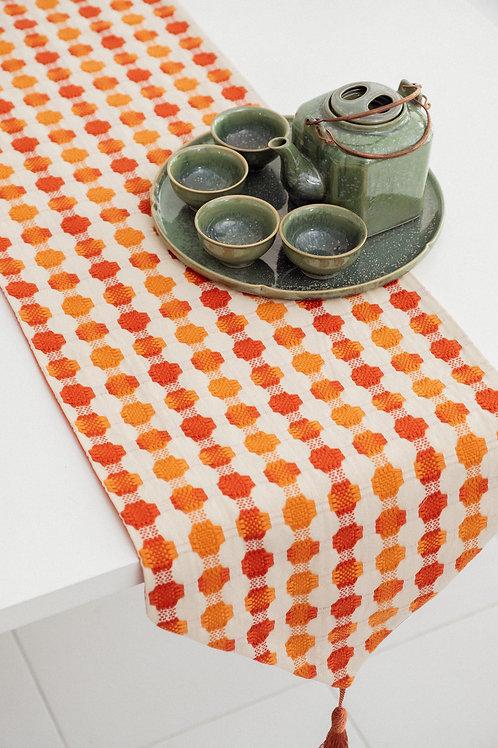 Table Runner (Orange Dots)