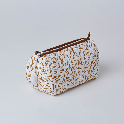 Available at Lim's Holland Village-Toiletry bag, vanity bag, cosmetic bag, hand block print, office gifts