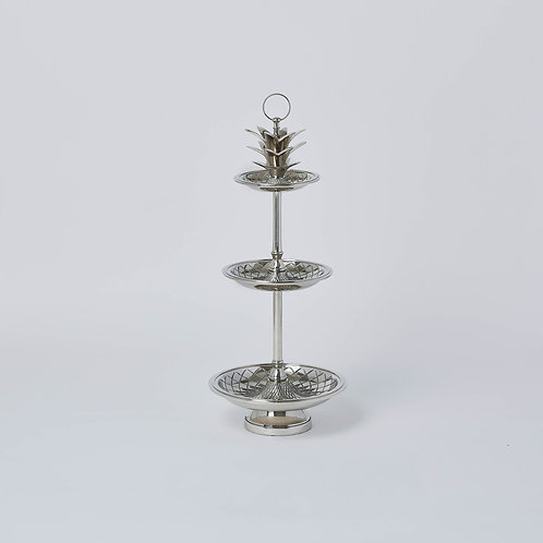 Pineapple 3 Tier Tray (Silver)
