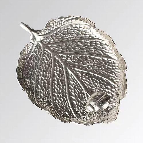 Metal Coaster (Silver Leaf)