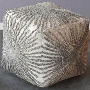 Block Pouf (Ivory&Grey)