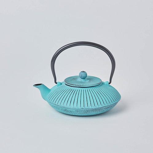 Cast Iron Teapot 1.2L (Turquoise Fan)